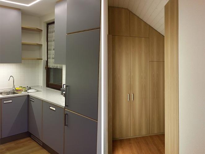 cucina e armadio su misura in brianza
